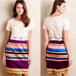 Anthropologie Weston Carolina striped sheath dress